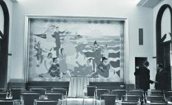 Peinture Schauflaire salle la Legia 1954